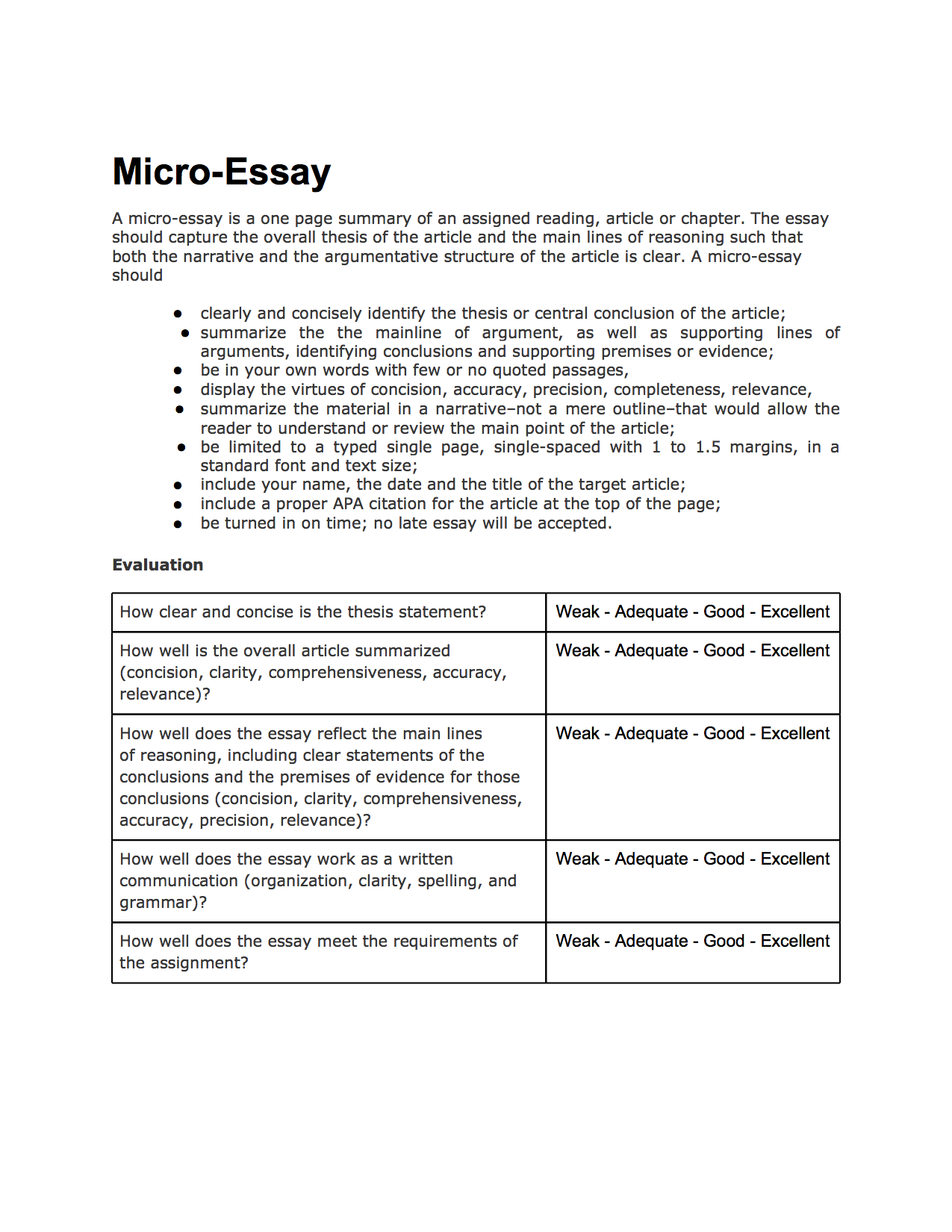 evaluate definition in an essay Writing an evaluation essay is a great way to size up a particular object or idea this type of critical writing sets precise criteria for evaluation, providing fair and solid supporting evidence so that readers can form their opinions about a subject.